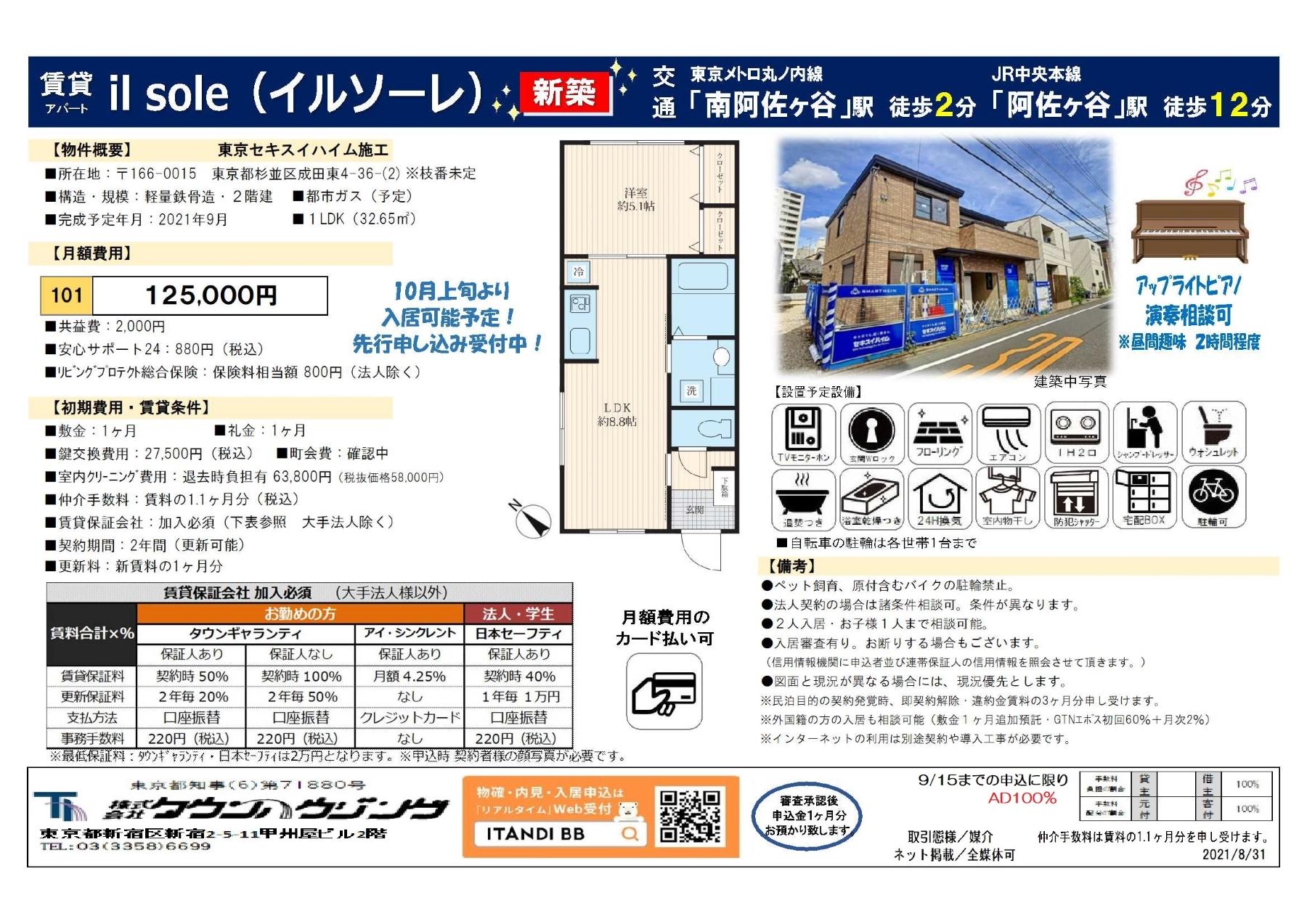 東京メトロ丸ノ内線 南阿佐ヶ谷駅 徒歩2分 1LDK 中央線阿佐ヶ谷12分